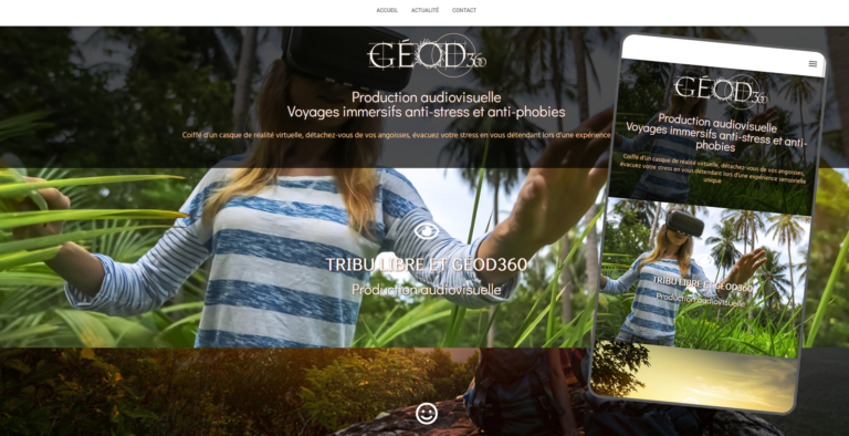 Géod 360 production audiovisuelle -  geode360.com - Site responsive WordPress