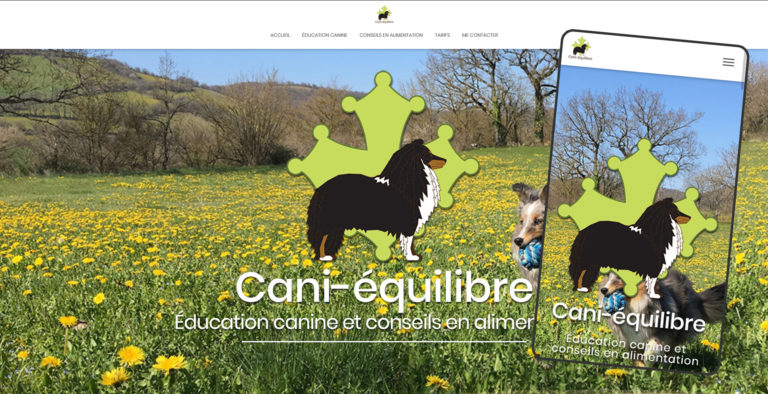 Cani-Équilibre - cani-equilibre.fr - Site responsive WordPress